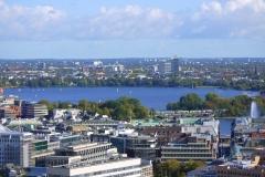 Blick vom St. Michel Hamburg auf die Binnenalster
